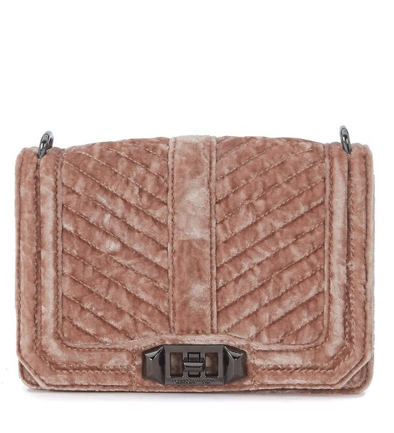 Rebecca Minkoff love bag shoulder bag velvet pink