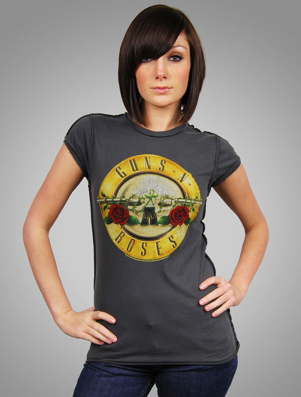 Guns n roses drum t shirt vintage amplified womens new