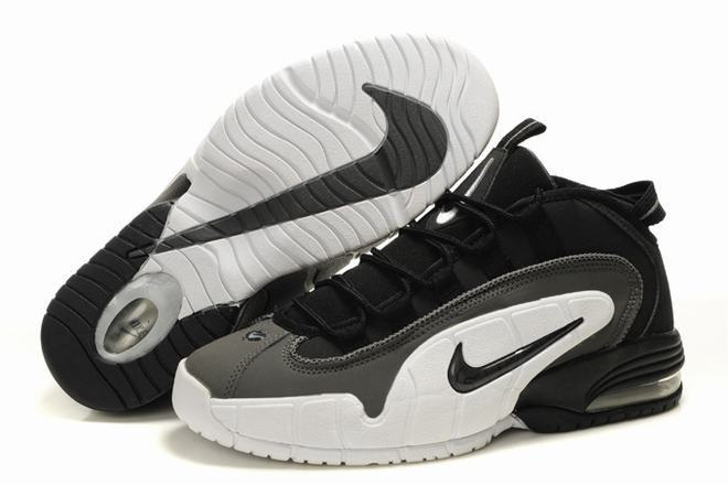 white and black nike air penny 1 shoes