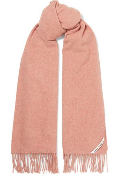 Acne Studios - Canada Fringed Mélange Wool Scarf - Pink