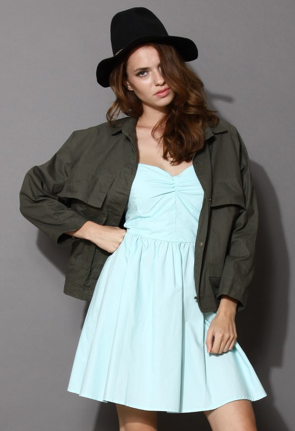 jacket chicwish army green free style
