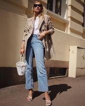 jeans,top,jacket,blazer,bag,shoes,sunglasses