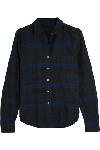shirt london cotton blue top