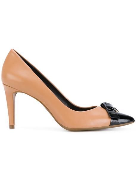 MICHAEL Michael Kors bow women pumps leather nude shoes