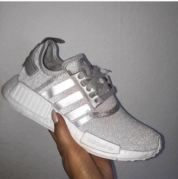 adidas schoenen zilver glitter