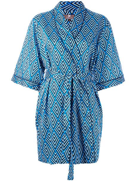 Otis Batterbee kimono women cotton blue top
