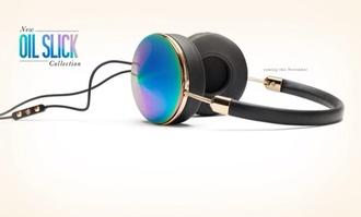 sunglasses headphones bright colored