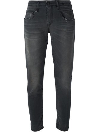 jeans cropped jeans cropped women spandex cotton grey