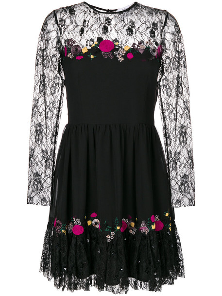 dress women lace black