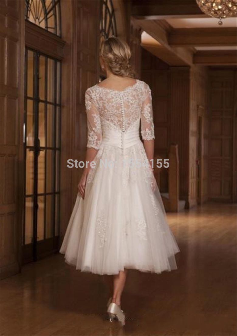 Buy vintage white ivory lace appliques 3 for Buy short wedding dress
