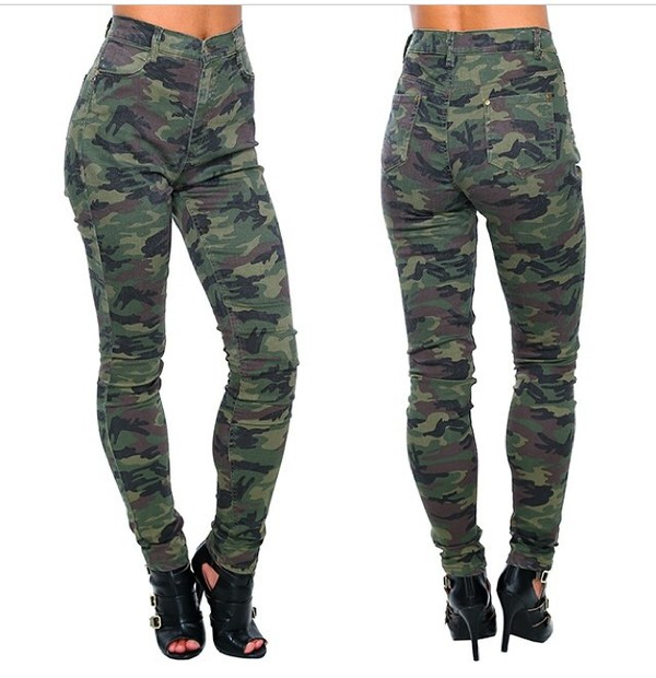 camo pants high waisted pants pants