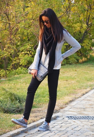 black pants skinny jeans converse sunglasses fall outfits clutch cute style