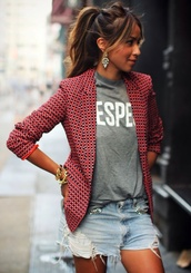 jacket,blazers online for women,black and red