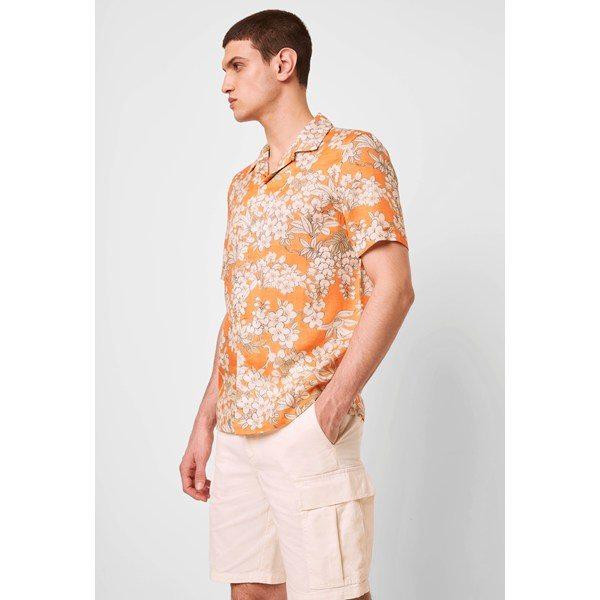 Caliban Lyocell Shirt - jaffa orange