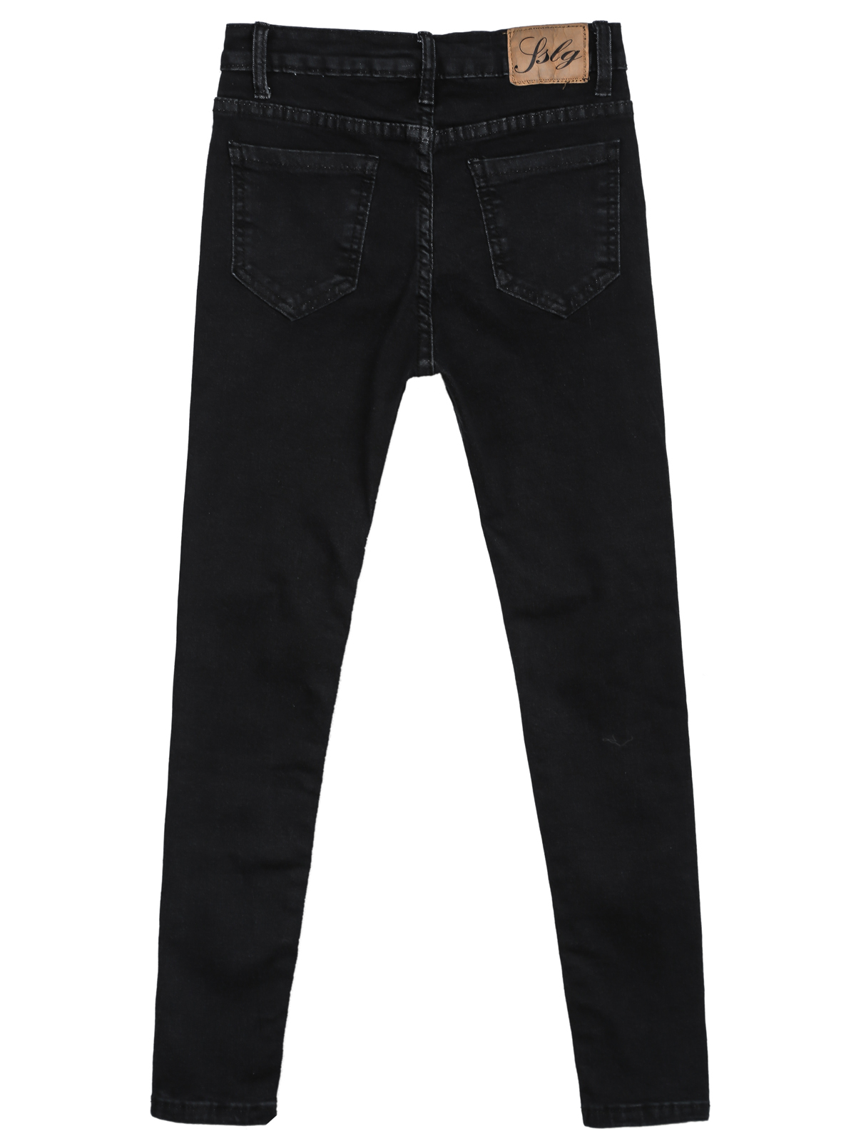 Black Slim Ripped Pockets Denim Pant - Sheinside.com