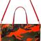 Valentino - coral & khaki reversible canvas camo tote | ssense