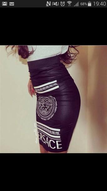 skirt noir et blanche