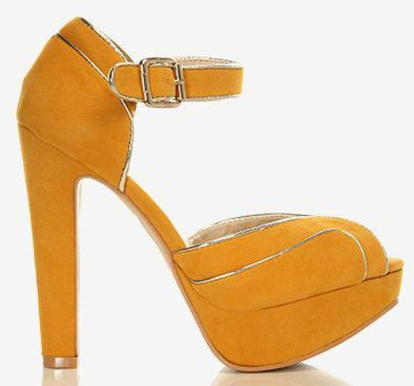 faux fashion shoes party boutique essex online prom wedding high heels mustard metalic celebrity