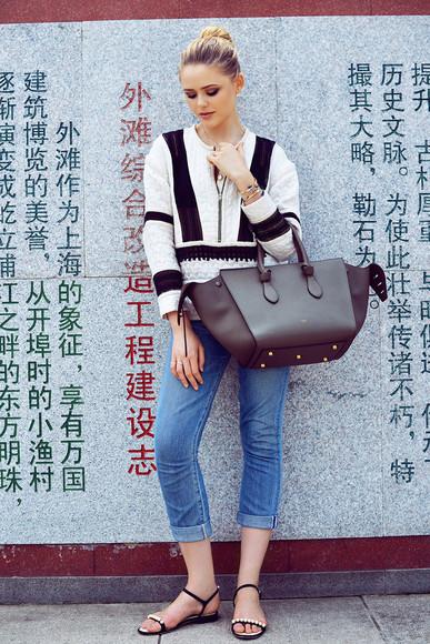 kayture shoes jewels top bag blogger jeans