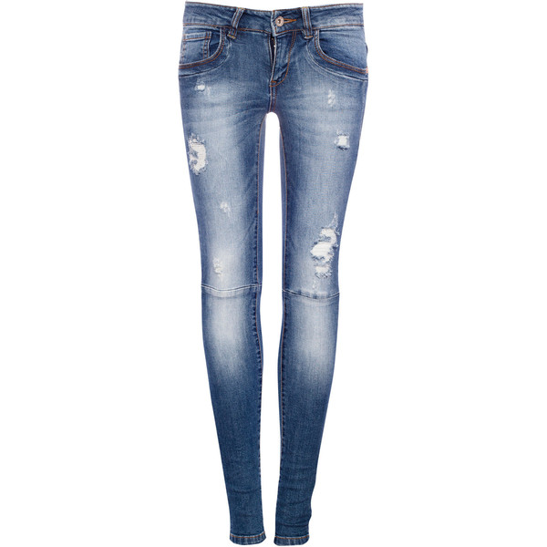 Pull & Bear Ripped Skinny Fit Jeans - Pull&Bear - Polyvore