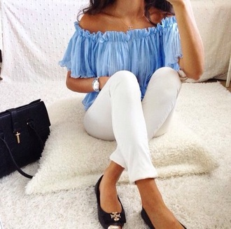 blouse blue blue shirt blue bouse