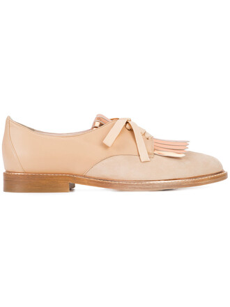 women loafers leather nude suede shoes