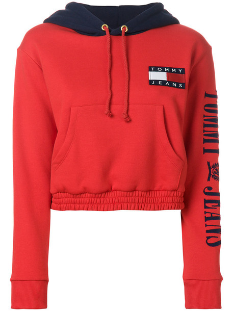 hoodie women cotton red sweater
