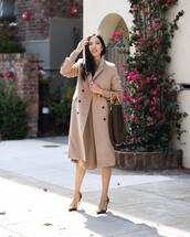 bag,handbag,louis vuitton bag,pumps,high heel pumps,coat,wool coat,double breasted,midi dress