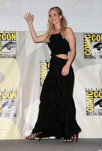 dress cut-out dress cut-out black dress maxi dress sandals comic con shoes