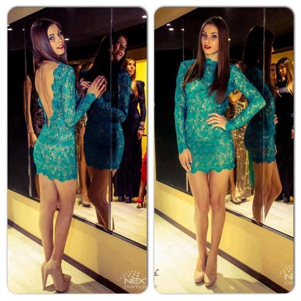 dress turquoise turquoise dress drees dentelle