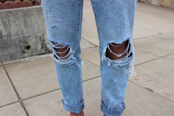 jeans blue jeans boyfriend jeans ripped jeans