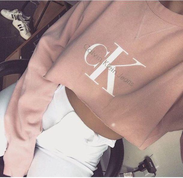 shirt calvin klein pink white calvin klein underwear cropped sweater white pants high waisted pants pink sweater sweater soft pink calvin klein calvin klein jeans