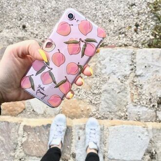 phone cover yeah bunny peach peaches pastel iphone case