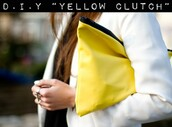 bag,neon yellow,yellow,clutch