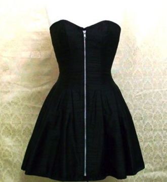 dress clothes black black dress zip corset dress corset zipped dress zipper dress silver gothic dress goth gothic body jewelry punk punk rock steampunk steampunk clothing steampunk fashion