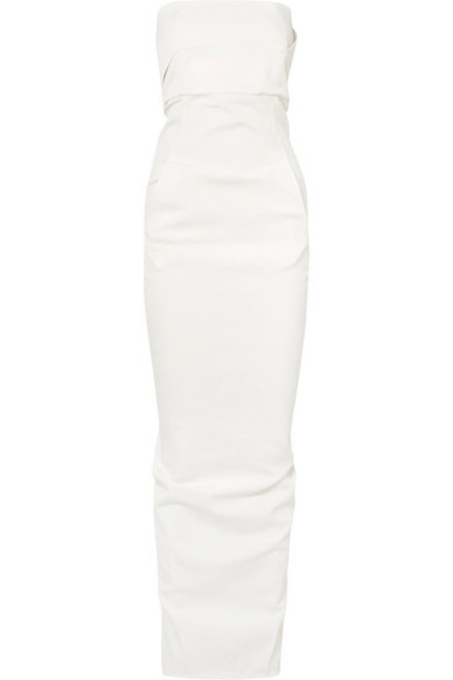 Rick Owens gown white cotton dress