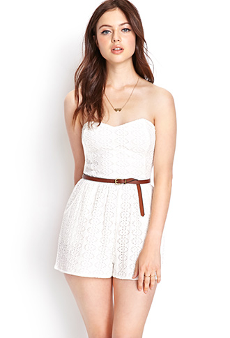 Crocheted Romper | FOREVER21 - 2000125059
