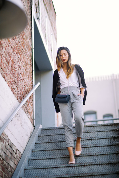 jacket bag blogger top neon blush