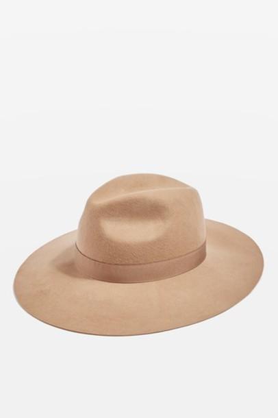 Topshop hat fedora camel