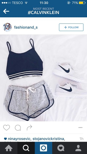 shorts nike tanned summer grey calvin klein