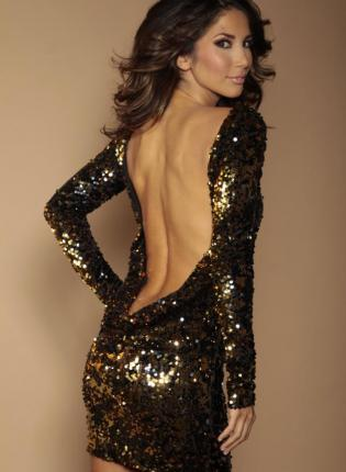 Black and gold flip sequin