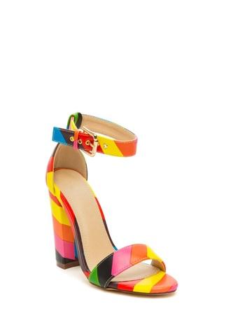 shoes colored sandals heels sandals shoes rainbow
