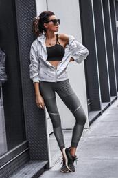 fashionedchic,blogger,leggings,underwear,shoes,sneakers,sportswear,sports jacket