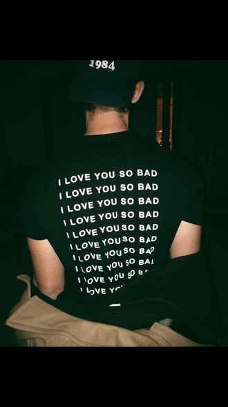 t-shirt black and white black white graphic tee quote on it tumblr love