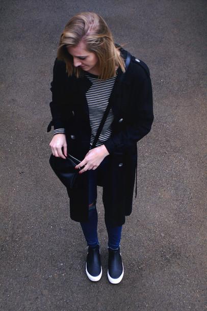 katiquette blogger jeans black coat coat shirt