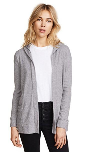 cardigan cardigan open grey heather grey sweater