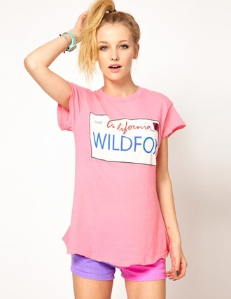 shirt wildfox quote on it grunge tumblr pink hipster boho bohemian top love girl outfit internet zildfox america drawn print vintage sweater california