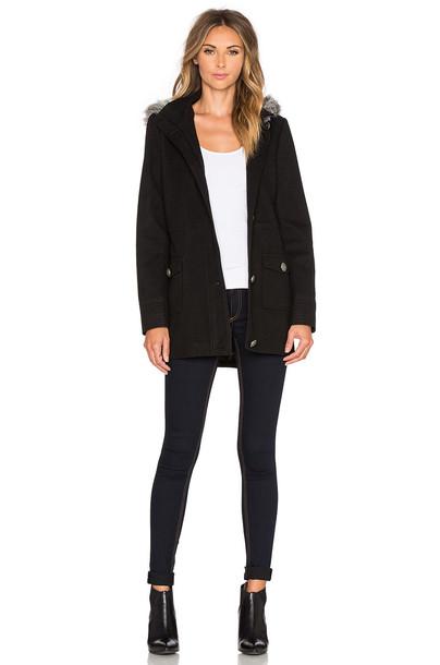 coat fur faux fur black