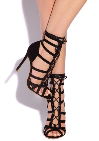 shoes black heels nude high heels strappy black
