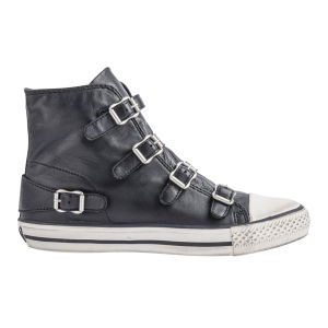 Ash Women's Virgin Wax Hi-Top Trainers - Black 					Clothing - Free UK Delivery over £50